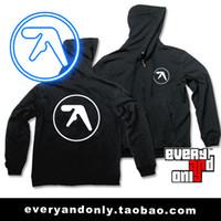aphex twin - Aphex Twin Band logo Zipper g fleece sweatshirt hoodies style