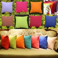 black pillow cases - Candy Colors Sofa Home Bed Decorative Throw Pillow Case Cushion Cover Square