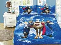 Wholesale Fairy tale Frozen bedding set bed linen cotton twin full bedspread duvet quilt cover flat sheet pillowsham comforter sets