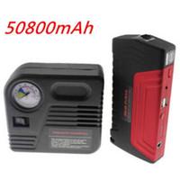 battery tire pump - 50800 MAH Car Jump Starter Car Battery Car Tire Tyre Inflator Pump Car Safety Hammer JumpStarter Set Mobile Auto Emergency Power