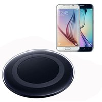 Wholesale Charging Plate - 2016 Qi Wireless Charging Pad not Fast Charging Plate Mini Charger For Samsung Galaxy S6  S6 edge Note 7 can with logo
