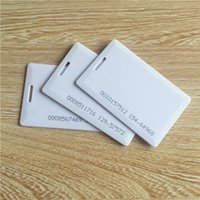 Wholesale 25pcs EM4100 RFID thick card KHZ ISO7816 for access control card