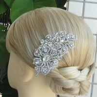 Cheap Wedding Bridal Hair Accessories Flower Hair Comb Rhinestone Crystals FSE05093C1