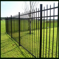 Wholesale Black Coated Palisade Fencing Horizontal Pipes mm mm and Vertical Pipes mm Used For Lawn