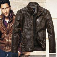 Wholesale 2015 New Arrivals Autumn Brand PU Leather Jacket Men Jaqueta Couro Masculino Bomber Leather Jacket Sheepskin Coat Motorcycle Jacket