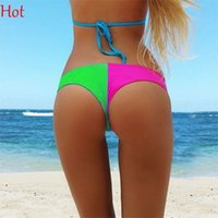 army board shorts - Hot Contrast Board Shorts Sexy Women Swimming Underwear Patchwork Women Briefs Florescence Thongs Sexy Women Panties Ladies Briefs SV029428