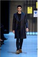 Men alpaca jacket - Fall New Fashion Alpaca Lapel Long Section Of Classic Men Woolen Coat And Comfortable Coat Jacket