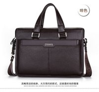 Wholesale The new sales promotion leather briefcase bag Men s brand handbag high grade cowhide business bag