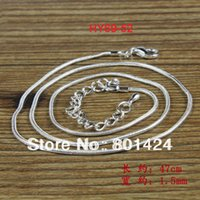 Wholesale cm necklace snake chain making for jewelry silver plated with extension chain