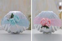 Wholesale Hot Shell Conch Candy Boxes With Ribbon and Flowers Beach Theme Cute Candy Favor box Wedding Party shower Favors gifts