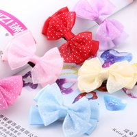 ribbons and bows - 20pcs Baby ribbon bows with clip Korean children s jewelry is gentle and lovely lace clip Hairclips Girls hair accessorie