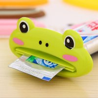 Wholesale 2 Kawaii Cute Animal Multifunction Plastic Toothpaste Squeezer Bath Toothbrush Holder