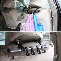 Soportes Holder Estantes Nuevos 2015 Conveniente 4 gancho de seguridad del vehículo de la suspensión del coche auto apoyo para la cabeza del sostenedor del bolso del gancho para bolsas de envío gratuito extraíble