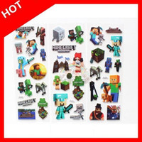 bubble toy - 2015 Minecraft D Cartoon Bubble Wall Sticker party decoration Decorative Stickers classic toys for Children kids baby girls Gift