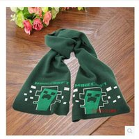 Wholesale Minecraft Creeper Scarf Cotton thicken warm styles mix good quality Christmas best gift in winter G0040