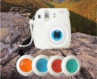 Wholesale Four Colors High Quality Polaroid Fool Camera Filters Apply to Fujifilm Instax Mini Mini colors