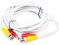 Wholesale 5m Pre made All in One BNC Video DC Power Extension Cable with Connector Coaxial Plug and Play Cable Lead CCTV Security Camera DVR System