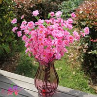 artificial blossom vases - vases artificial flowers Romantic Artificial Branches Of Peach Cherry Blossom Silk Flowers Home Wedding Decoration Flower