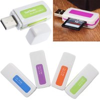 Wholesale Protable in Memory Multi Card Reader USB for SD TF T Flash M2 Card VC393 W0