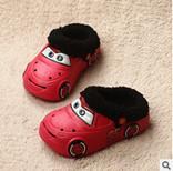 Gros-2015 chaud nouveau bébé bébé mignon chaussures de trou de trou de voiture agneaux pantoufles de laine chaude automne / hiver pour les garçons et les filles livraison gratuite