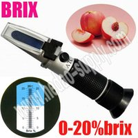 Wholesale Durable Hand Held ATC Refractometer Brix Wine Beer Fruit Specific Gravity Homebrew