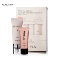 Wholesale ALOBON SPF30 Sunscreen Cream Face Care ml g a set Cool whitening Moisturizing Isolation Concealer Skin Care Cream