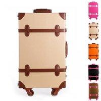 Wholesale Suitcase Wheels Faux Leather Wedding Bridal Trolley Travel Bags Password Lock Trolley Rolling Luggage JO0017 Salebags