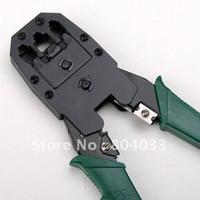 best crimper - 2015 Discount Network Crimper Pliers Tools For RJ45 RJ11 RJ12 CAT5 Cable Best Free Drop Shipping