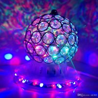 Wholesale 3w LED RGB Rotating Spotlight Crystal Bulb LED Stage Light cystal magic ball DJ Disco wedding Party Laser light