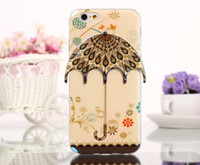 apple umbrella - 3D Umbrella Romantic Cute Case TPU Soft cases Beautiful Lover Back Cover Glossy Shiny Skin For Iphone6 Iphone G inch