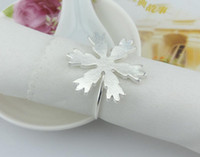 Cheap 10pcs Silver Gold Plated snowflake Napkin ring Serviette Buckle Holder Hotel Wedding Party