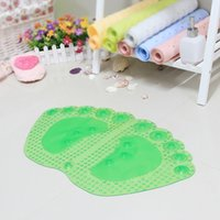 big bathroom rugs - 3pcs new PVC shower carpets for bathroom massage type sucker big foot pad children seniors pregnant women bath rugs