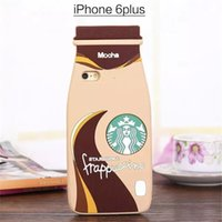 apple feeds - Starbucks Like of Feeding Bottle Style Silicone Good Quality Protective Cases for iphone G S Plus S S Free DHL Shipping