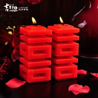 Wholesale JIXIANGJIA Modern Chinese style smokeless red candle creative wedding gift Romantic wedding props
