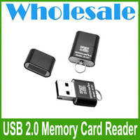 Wholesale 2015 High Speed Mini USB Micro SD TF T Flash Memory Card Reader Adapter N4 Random Color