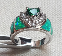 opal - Fashion Green Blue Fire Opal Ring For Gift