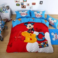 mickey mouse bedding - Mickey Mouse Duvet Set Luxury Bedding Sets Red Mickey Mouse Bedding Twin Full Queeen King Size