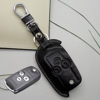 accord keychain - genuine leather Key cover case for honda civic CRV spirior Accord Euro doyssey flip key holder wallet keychain rings accessories