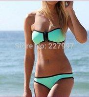 Wholesale sets New Women s fashion Bikinis l sexy push up Neoprene swimwear Setpk1