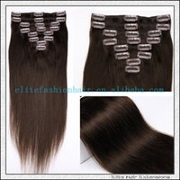 absolute hair - Supplying clip in hair absolute quality guarantee human hair new stainless steel clips issuing sub