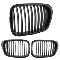 Wholesale 1Pair Front Center Black Wide Kidney Hood Grille For BMW E39