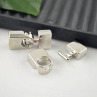 Cheap Silver Plated Hook Loop Leather Clasps Buckle Toggle End Cap Clasp For 26 x 11mm Leather CORD Beads Hooks Connectors jewelry findings