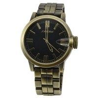 Cheap Wholesale-2015 Luxury SINOBI Antique Rose Gold Stainless Steel Mens Quartz Watch Fashion Classic Wristwatch Japan Movement Watch Orologi
