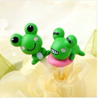animated mobile phone - pcsPopular animated cartoon Mobile phones accessories Green frog couple doug cartoon phone dust plug mm