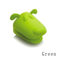Wholesale 4pcs Dog Doggie Design Pliable Silicone Pot Holder Silicone Heat Resistant Glove Oven Mitt Colors Drop Shipping HG GR