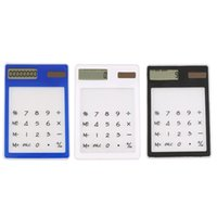 8 digit dual power calculator - Mini Calculator Ultra Slim Solar Power Touch Screen LCD Digit Credit Card Electronic Transparent Calculator Black White Blue