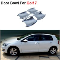 Wholesale New ABS Chrome Styling Car Door Bowl Cover Frame For Volkswagen Golf Auto Accessories High Quality