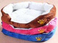 Wholesale Small Size Colors For Choose Pet Dog Puppy Cat Soft Fleece Warm Bed House Plush Cozy Nest Mat Pad Mat
