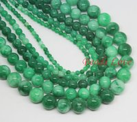 green jade stone - mm Green Multicolor Jade Round Loose Stone Beads AAA quot strand Pick Size F00033