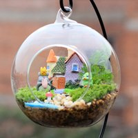 Wholesale New Villa building resin crafts house fairy garden miniatures gnome Micro landscape decor bonsai for home decor DIY